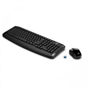 Kit Teclado e Mouse sem Fio HP 300 com Teclas Multimídia Preto hp300