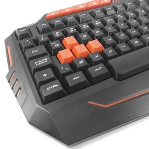 Teclado Gamer Com Hotkeys Multimidia Preto/Laranja - TC211
