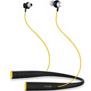 Fone Earphone Pulse Rubber Arco Preto E Amarelo - PH240