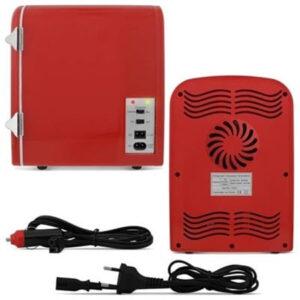 Mini Geladeira Multilaser Retro Trivolt 4L Vermelha - TV007