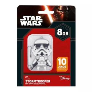 Pen Drive Stormtrooper 8GB USB Leitura 10MB/s e Gravação 3MB/s Multilaser - PD039