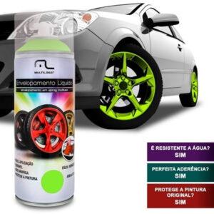 Spray de Envelopamento Multilaser Liquido Amarelo Fluorescente 400ml – AU427