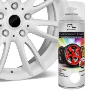 Spray de Envelopamento Multilaser Liquido Branco Fosco 400ml - AU421