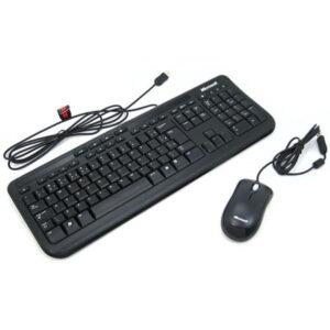 Teclado E Mouse Com Fio Desktop 600 Usb Preto Microsoft - APB00005