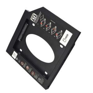Adaptador HDD/SDD Multilaser para Notebook, Baia 12mm, CD/DVD - GA173