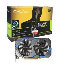 Placa de Video Galax Geforce 1050Ti (1-Click OC) 4GB DDR5 128Bit 7008Mhz 50IQH8DSQ31C