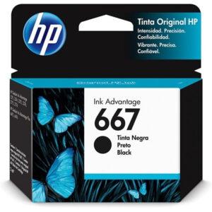 Cartucho Original HP 667 3YM79AL Preto