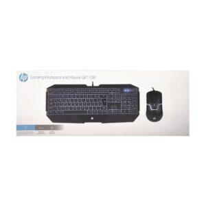 Kit Teclado e Mouse HP GK1100, ABNT2 1600 DPI, Led RGB, Black