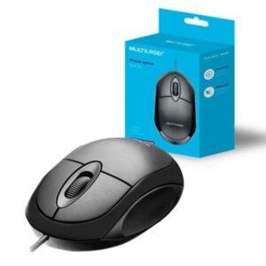 Mouse USB Òptico Classic Box Full Black Multilaser MO300