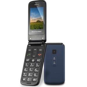 Celular Flip Vita Multilaser Dual Chip MP3 Azul – P9020