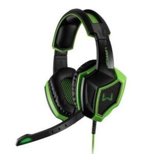 Fone Headset Gamer Warrior Ares USB 7.1 3D Surround Sound Preto/Verde – PH224