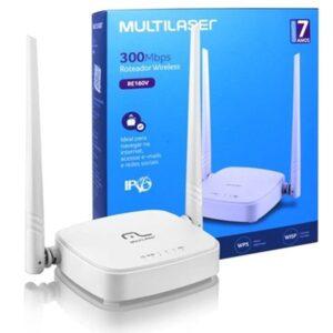 Roteador 300Mbps Ipv6, 2.4 Ghz, 2 Antenas Branco Multilaser – RE160V