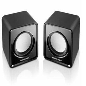 Caixa De Som Preta Multilaser 2.0 Mini 3W Rms – SP151