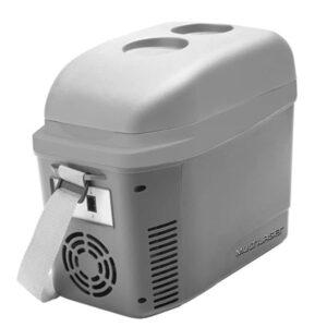 Mini Geladeira/Cooler 7L Cinza Fosco 12V com Porta Copos e Alça – TV013