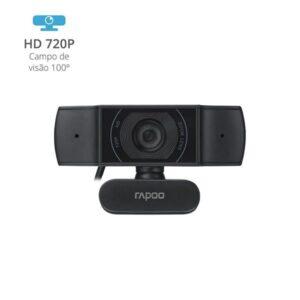 Webcam C200 HD 720P USB 2.0 Preto Rapoo - RA015