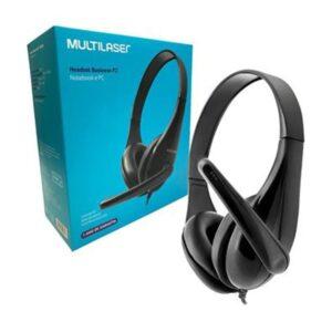 Fone com Microfone Headset Business Multilaser P2 Preto - PH294
