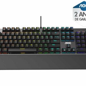 Teclado Gamer Agon Gk500d84b Gk500 Mecanico Rgb Switch Outemu Blue Abnt2