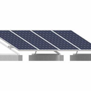Estrutura Solar Fotovoltaico Estrutura Ksmtv240x000md04 4 Paineis Smart Laje Triangulo Incli. 25 Graus Tiger