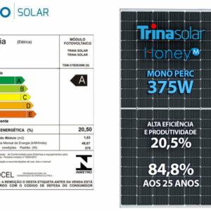 Painel Solar Fotovoltaico Painel 375w Honey 120 Cel. Mono