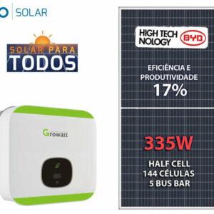 Gerador De Energia Solar Growatt Colonial Solar Group Growatt Gef 6,7kwp Byd Poli Half Cell Min 6kw 2mppt Mono 220v