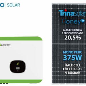 Gerador De Energia Solar Growatt Colonial Solar Group Growatt Gf 10,5kwp Trina Mono Perc Half Cell 375w Min 10kw 3mppt M